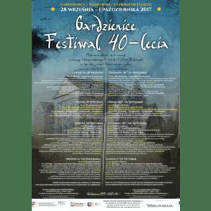 Plakat festiwalu 40 lecia