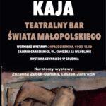 Plakat wystawy Ryszarda Kaja