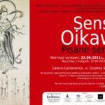 Plakat wystawy Sesui Oikawa Pisane sercem