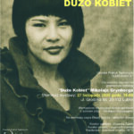 """Plakat wystawy """"Dużo Kobiet"""" Mokołaja Grynberga"""