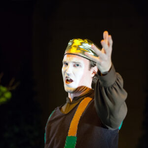 """Plutos"", Teatr Thiasos. Na zdjęciu: O. Van Den Hende. Fot. M. Butryn"